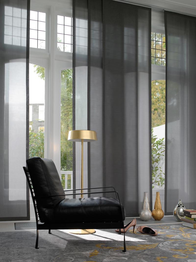 Panel japones luque y merino for Cortinas para paredes grises