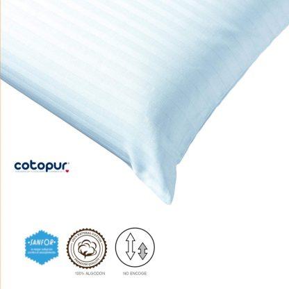 Fundas de almohada caricia algodón y tratamiento anti-encojimiento