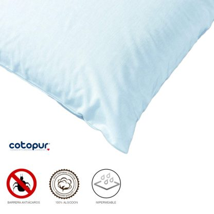 Fundas de almohada Luna 100% algodón e impermeable