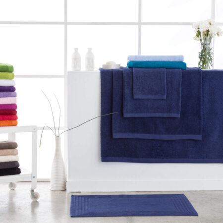Toallas de baño abece modelo alfa color azul