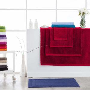 Toallas de baño abece modelo alfa color rojo