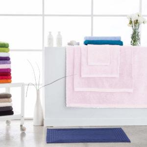 Toallas de baño abece modelo alfa color rosa