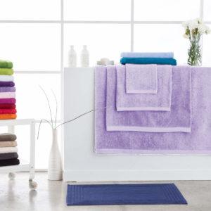Toallas de baño abece modelo alfa color violeta