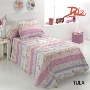 Bouti estampada modelo Tula, 100% Microfibra para cama de 90.