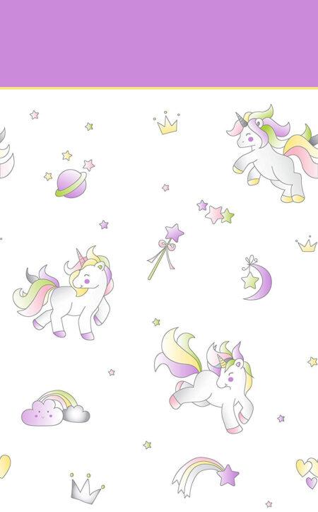 juego de sabanas tolra unicornio color morado