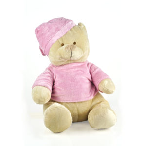 osito de peluche rosa bordado