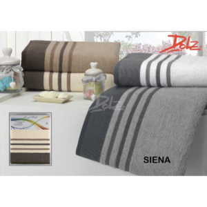 Juego de toallas de baño en tres tamaños 100% algodón de la marca DOLZ modelo siena