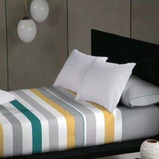 Juego de sábanas ADROS color turquesa, 90-135-150, sábanas Don Algodón primera calidad