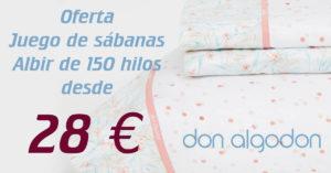 Juego de sábanas Albir de 150 hilos