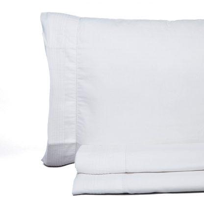 Juego de sábanas vintage de don algodón modelo vainica blanca