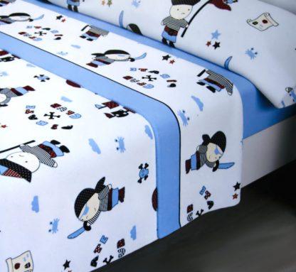 sabanas de sedalina modelo piratas para camas de 90