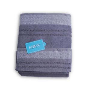 Juego de toallas para el baño, 100% algodón con bonitos damascos bordados en dos tonos gris.