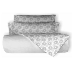 juego de sábanas franela belnou petalos color gris