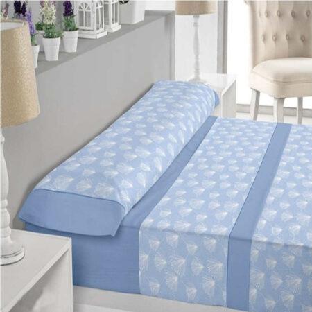 Juego de sábanas trovador pompon azul
