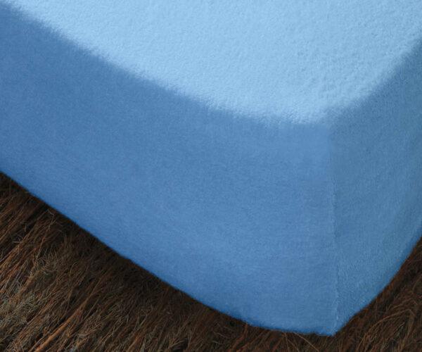 Funda de colchón de rizo elástico azul